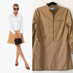New Tuckernuck Delfina Tan Brown Shirt Dress S